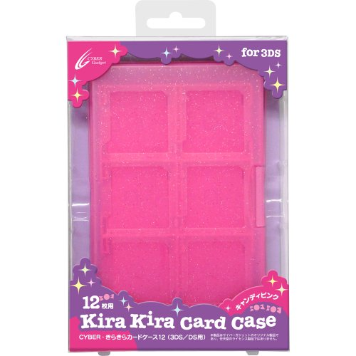Glitter CYBER /Card Case 12 (3DS / DS for) Candy Pink by Cyber gadget