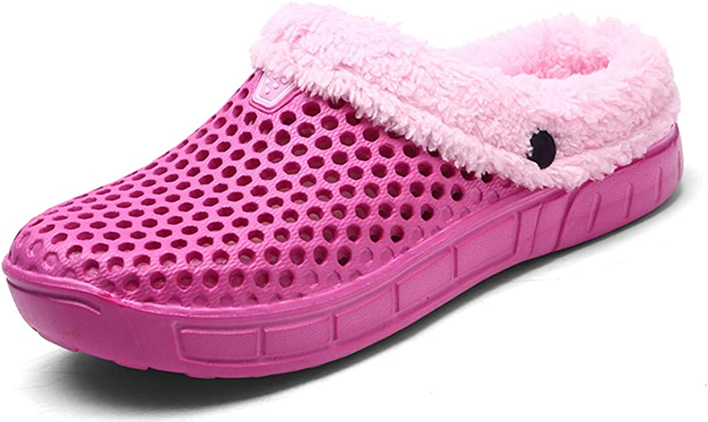 e9b60870adc7f YOOEEN Clogs Mules Garden Shoes Men Women Slip On Fur Lined Warm Winter  Slippers Breathable Walking Shoes
