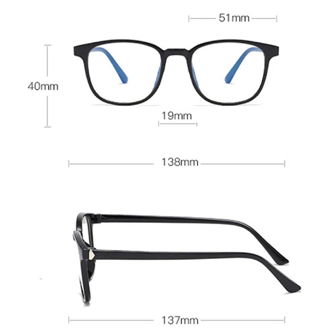 Unisex Donn Uomini Stile Designer Koojawind/Occhiali da Vista a Luce Blu Occhiali da Vista a Nerd Quadrati Occhiali da Vista Anti Blu a Raggio Leggere Leggerezza a Prova di Occhi Anti-Fatica