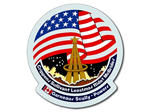 American Vinyl Space Shuttle Mission STS 41g Sticker (Challenger NASA Logo Insignia Patch Design)