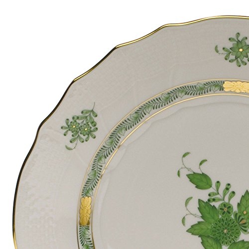Herend Chinese Bouquet Green Covered Bouillon Lid Only With Rose