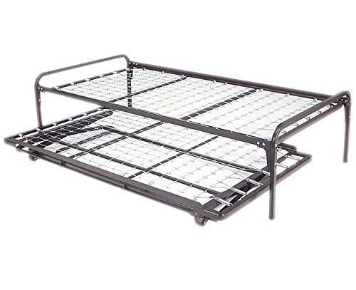 Twin Size Dark Black Metal Day Bed Daybed Frame Pop Up Trundle 39 Twin Size