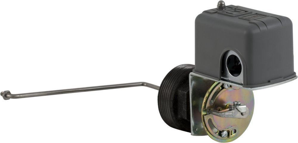 Square D 9037 Closed-Tank Float Switch w/Bushing for Power Circuit, Side Mount, NEMA 1, L Float Position, 90-Deg. Float Rod Angle w/ 7'' Offset, Viton Packing, Contacts Close on Rise, No Float by Square D by Schneider Electric