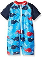 Sol Swim Baby Boys' Whale At Sea 1 Piece Rashguard