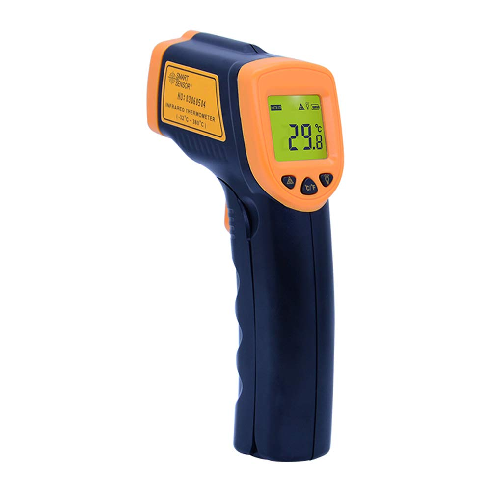 OUTEST Digital Thermometer Non Contact Infrared Thermometer Ir Laser Point Temperature Gun -26℉~ 716℉(-32℃ ~ 380℃) Pyrometer