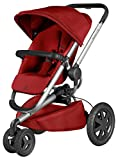 Quinny Buzz Xtra 3 Wheel Pushchair, Silver Frame, Red Rumour