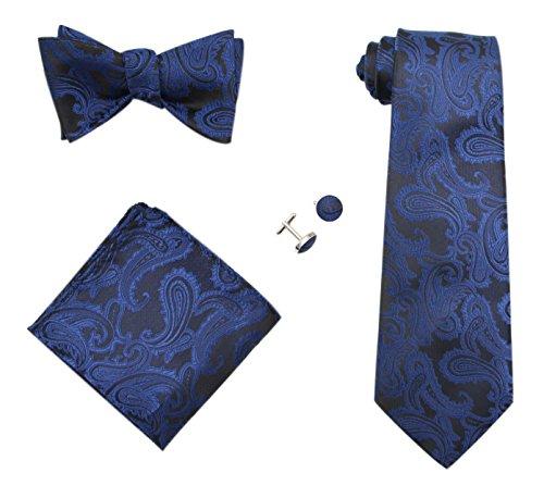 Navy Blue Square Cufflinks - 4
