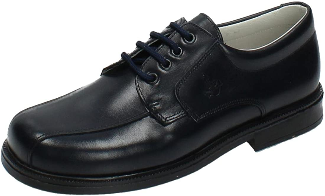 YOWAS 6894 Zapatos Piel Azul NIÑO Zapato COMUNIÓN