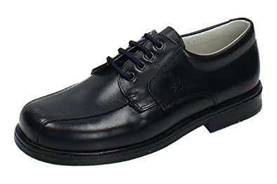 YOWAS 245231 Zapatos Piel Azul Niño Zapato Comunión Marino 31
