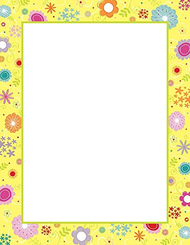 "Great Papers! Spring Flowers Letterhead - 8.5"" x 11"" - 2014115"