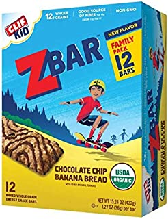 product image for Clif Kid Z Bar Clif Kid zbar - Chocolate chip Banana Bread - (1.27 Ounce Energy Bars, 12 Count), 12 Count