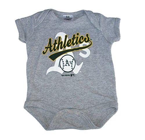 Oakland A's Baseball Infant Onesie Size 6-9 Month Bodysuit - Gray ()