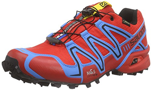 Salomon Speedcross 3 Gtx, Zapatillas de Trail Running para Hombre Rojo (Radiant Red / Process Blue / Black)