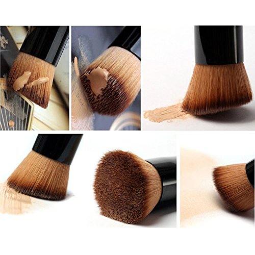2Pcs Velvet Makeup Sponge wich 1Pc Kabuki Foundation Brush,Materasu Original Dual Layer Technology Microfiber Foundation Blending Sponge Latex-Free for Liquid Foundation Cream and Powder