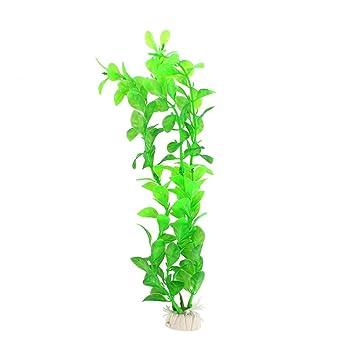 Vi.yo Plantas Artificiales Plantas de Agua de Césped para Peces Tanque Acuario Adorno Planta Planta Planta Planta Plástico Dibujo, Verde, 25 cm: Amazon.es: ...
