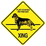 Flat Coated Retriever Xing caution Crossing Sign dog Gift