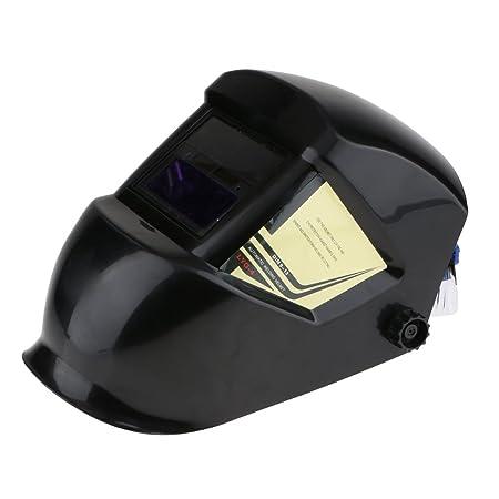 MagiDeal Máscara Soldador Solar Auto-oscurecimiento Din 3.5 Soldadura Casco Capucha Protección Para Ojos -Negro: Amazon.es: Bricolaje y herramientas