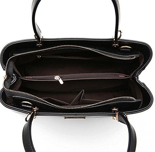 Bolsos de señora Xinmaoyuan bordado Dama Bolso Bolso Bolsa traje doble Negro