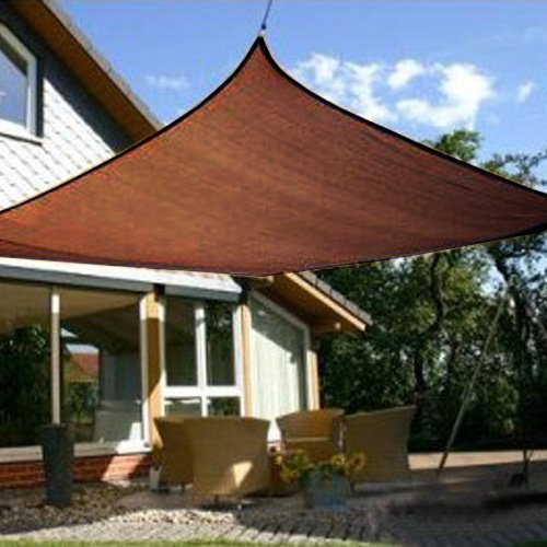 Modern Home Sail Shade Square 10 Sides – Chocolate