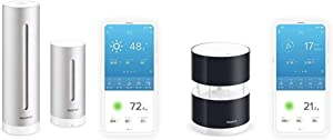 Netatmo Weather Station Indoor Outdoor with Wireless Outdoor Sensor - Compatible with Amazon Alexa & Anemometer with Wind Speed and Direction Sensor – Wind Gauge for Netatmo Weather Station