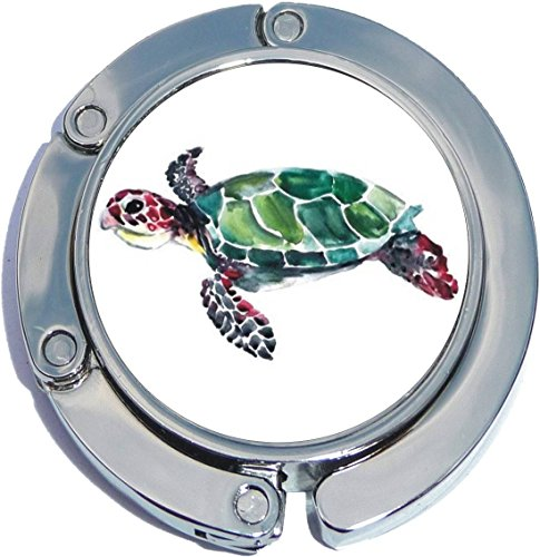 Watercolor Sea Turtle Foldable Purse Hanger - Turtle Purses