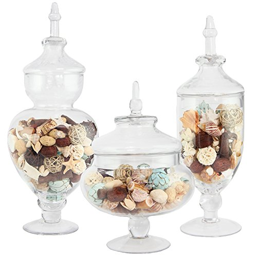 Apothecary Jar 3 Piece Set, Wedding Candy Buffet, XX Large, 23.5