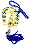 peace door beads - DevDeep Turkish Blue Evil Eye (Nazar) Brass Horse Shoe Amulet Car hanging Door Hanging Wall Hanging Home Decor Protection Good Luck Blessings