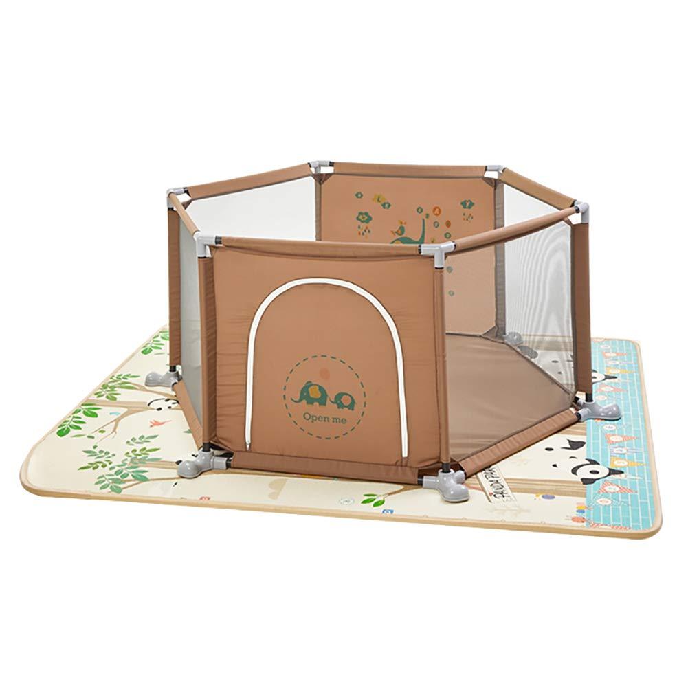 ベビーフェンス 反ロールオーバー六角形Playpensバスケットボールフープ、赤ちゃんの安全ポータブルプレイヤード屋内での屋外 (サイズ さいず : 2cm mat) 2cm mat  B07MP15XCB