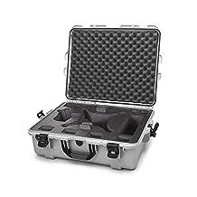Nanuk 945 Waterproof Hard Drone Case with Custom Foam Insert for DJI Phantom 4/ Phantom 4 Pro (Pro+) / Advanced (Advanced+) & Phantom 3 - Silver