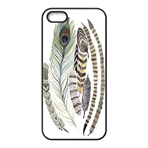 Custom Cover Case with Hard Shell Protection for Iphone 5,5S case with Indians Feathers lxa#838952