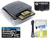 Lexar Professional Dual Slot USB 3.0 LRW307URBNA Reader + Memory Card Case + Tripod + Digital Camera Cleaning Kit