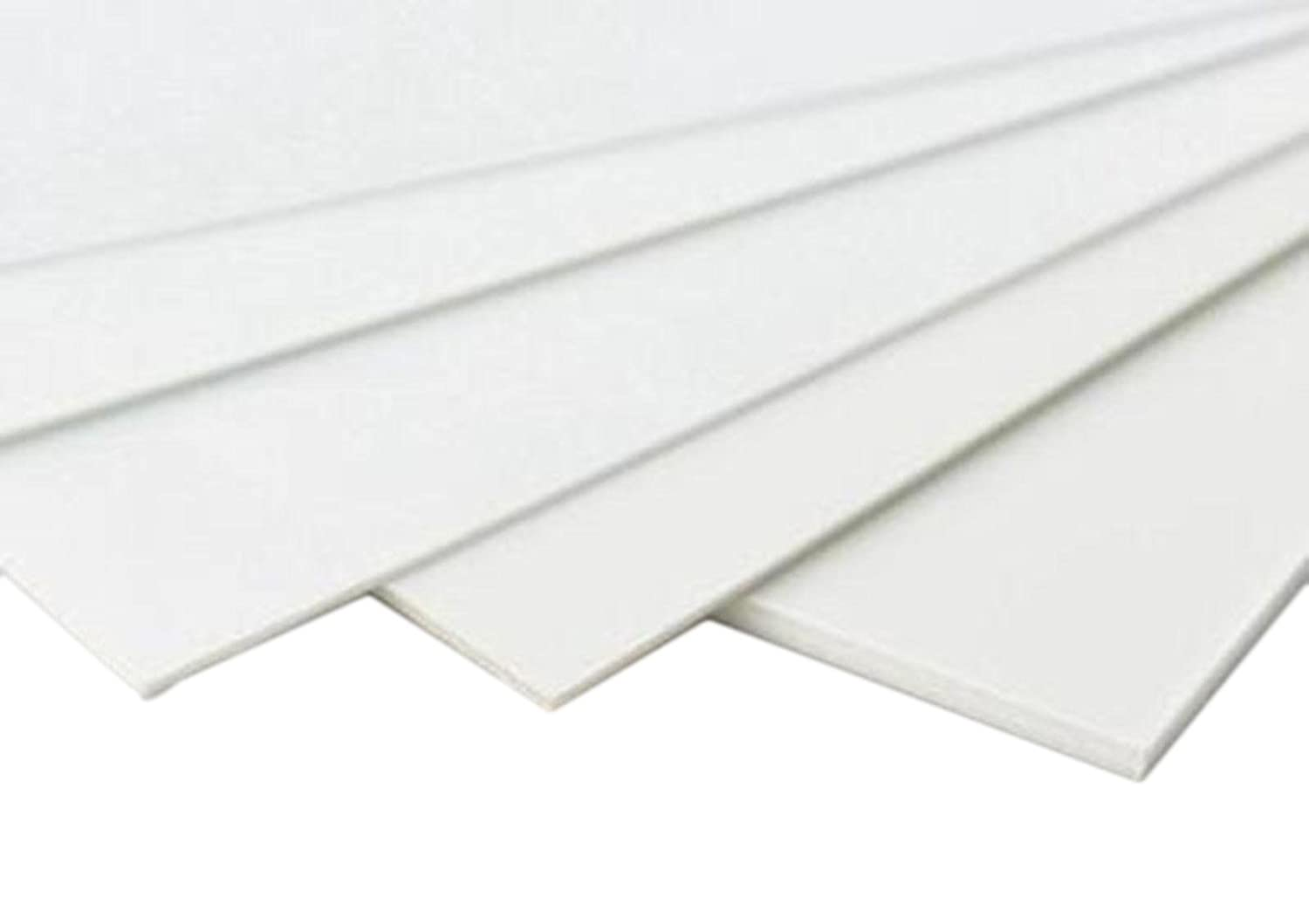 Amazon Com 5pcs Abs Styrene Plastic Flat Sheet Plate 0 5mm X 200mm X 250mm White Industrial Scientific