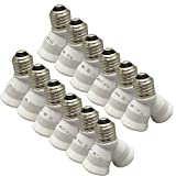 SmartDealsPro 12-Pack E27 Y Shape 1 Male to 2 Female LED Light Splitter Bulb Base Adapter Lamp Holder Converter