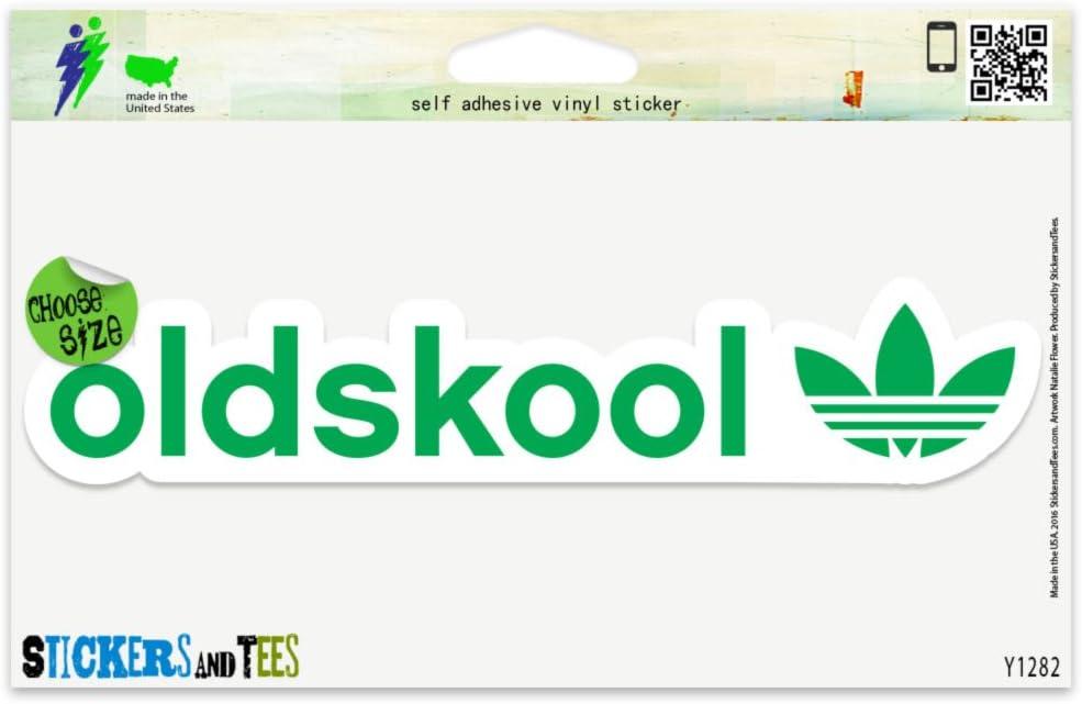 "Oldskool Vinyl Sticker Small Window Bumper Phone Decal 4"" x 1"""