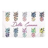 Delta Gamma Pop Art Pineapple Sorority Flag Greek Letter Use as a Banner 3 x 5 Feet Sign Decor DG