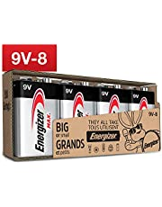 Energizer Max 9V Batteries, Premium Alkaline 9 Volt Batteries (8 Battery Count) - Packaging May Vary