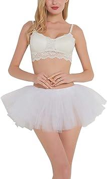 Amosfun Mujer Adulto Tutus Tul Vestido de Falda Fiestas Disfraces ...