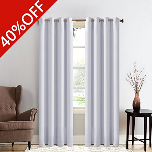 MEROUS Window Treatment Thermal Insulated Solid Grommet Blac