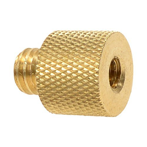 Foto&Tech Brass Screw Adapter Spigot 1/4'-20 Female to 3/8'-16 Male Threaded Male Tripod Thread Reducer for Camera Cage/Shoulder Rig/Tripod/Socket Studio/Lighting Equipment/LED panel/GoPro BASS 1/4 Female to 3/8 Male
