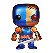 Funko - Figurine DC Heroes - Deathstroke New 52 Metallic Exclu Pop 10cm - 0849803043599