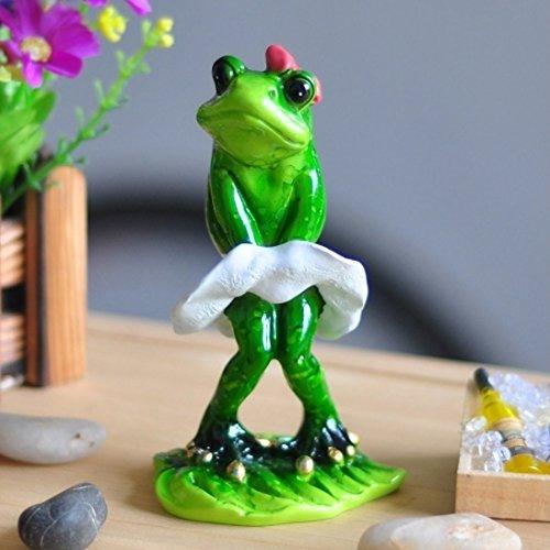 Pimtong Shop Estatua De Resina Cute Frog Resin Crafts Ecoracion Jardin In Monroe Souvenir Costume Animal Figurines Kawaii Estatua De Resina]()