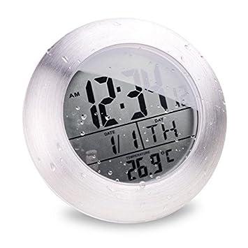 Uhr Badezimmer Digital | Uhr Wasserdichte Badezimmer Digitale Elektronische Wanduhr Batch