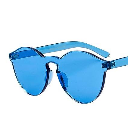 BiuTeFang Gafas de Sol Mujer Hombre Polarizadas Varios Colores sin fronteras Transparentes Color Caramelo de Moda