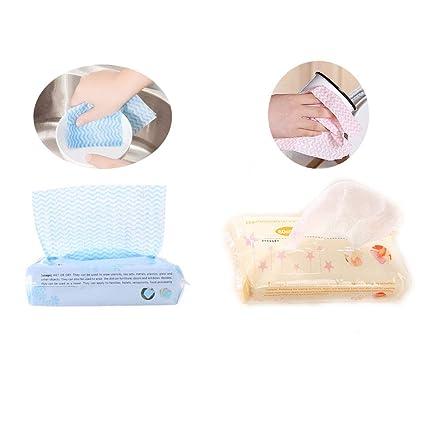 Toallitas de papel de limpieza para cocina y toallitas reutilizables no tejidas, paños de limpieza