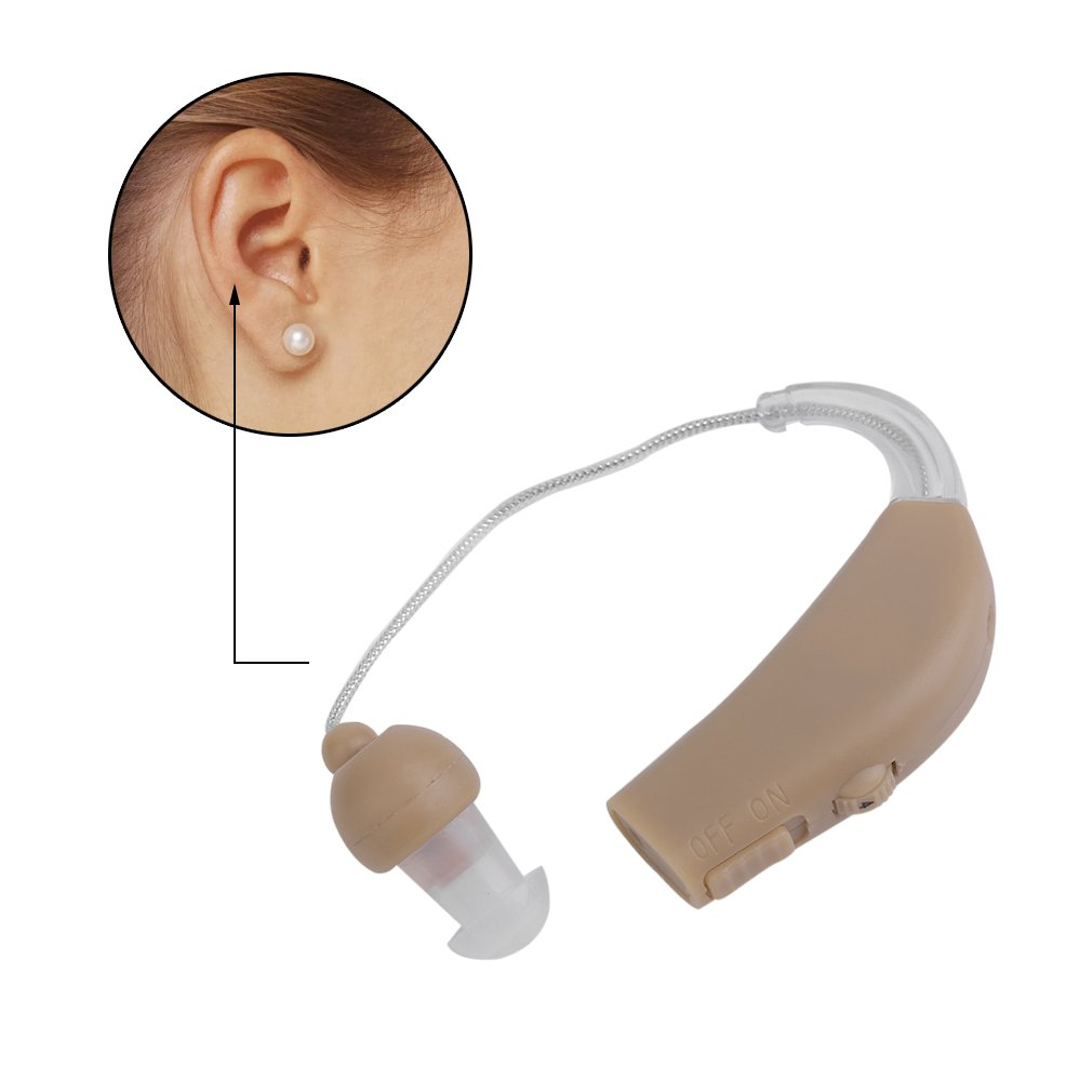 Rechargeable Acousticon Tone Hearing Aids Aid Behind The Ear Practical Audiphone Sound Amplifier US Plug JZ-1088F Acousticon Hearing Aids Behind The Ear Audiphone Sound Amplifier JZ-1088F