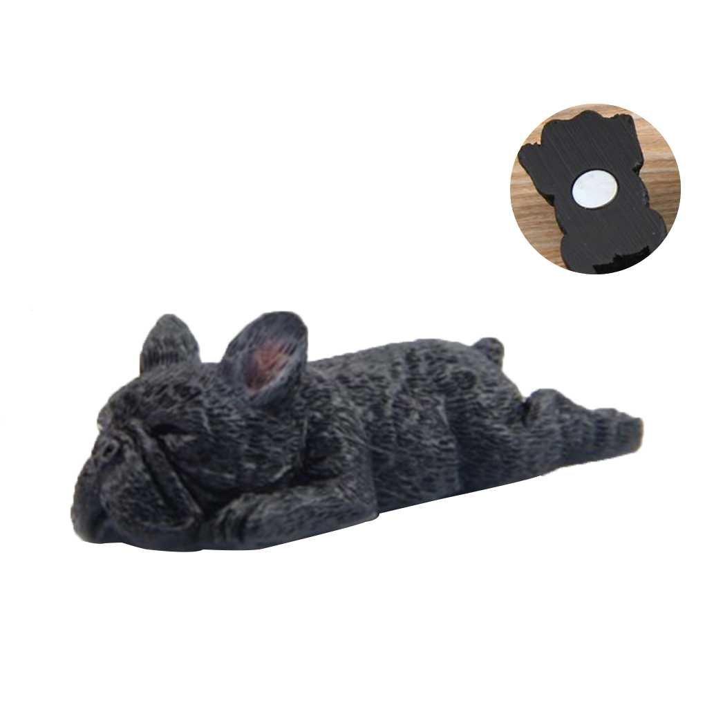 Lorsoul Fai da te Carino resina Sleepy Bulldog Frigorifero Fridge Magnet Sticker