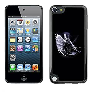 Slim Design Hard PC/Aluminum Shell Case Cover for Apple iPod Touch 5 Horned Angel Warropr / JUSTGO PHONE PROTECTOR