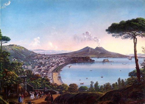 North Frigate Bay - Nicolino Calyo The Bay of Naples with an American Frigate - 18