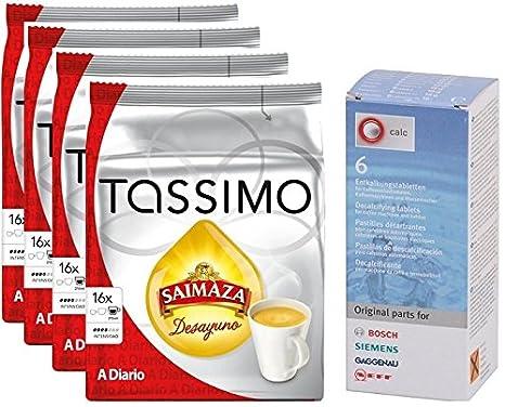 Tassimo Saimaza Desayuno a Diario 64 cápsulas más 1 ...