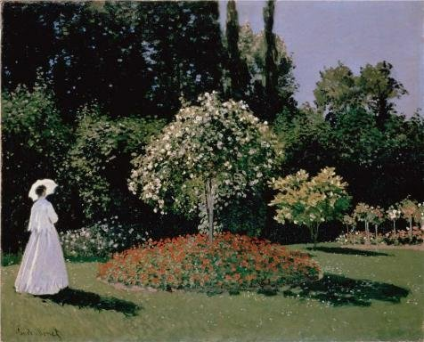 'Jeanne-Marguerite Lecadre In The Garden, 1866 By Claude Monet' Oil Painting, 24x30 Inch / 61x76 Cm ,printed On High Quality Polyster Canvas ,this Cheap But High Quality Art Decorative Art Decorative Canvas Prints Is Perfectly Suitalbe For Dining Room Decoration And Home Artwork And Gifts - Pottery Barn Market Umbrella